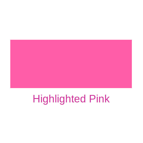 Highlighted Pink Fluorescent Pigment Emulsion